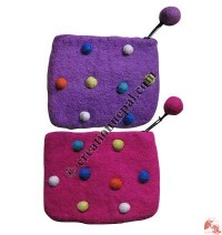 Felt dots coin purse