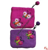 Felt butterfly coin purse