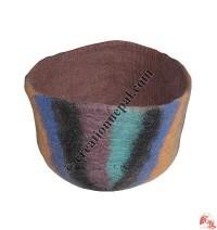 Felt stripes design basket