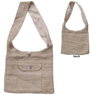 Plain natural color hemp bag