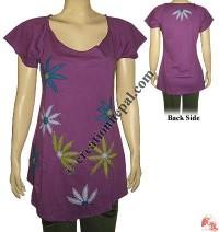 Flower patch sincker t-shirt