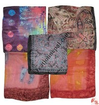 Light weight soft silk square scarf