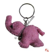 Elephant design felt key ring3