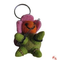 Tortoise design felt key ring