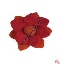 Lotus felt flower felt tic-tic hair clip
