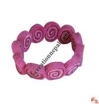 Spiral design felt cut-beads wristband