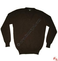 Gents V-neck Pashmina sweater1