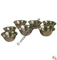 Brass offering bowls set