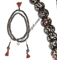 Tibetan mantra prayer beads