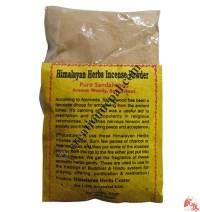 Pure sandalwood incense powder