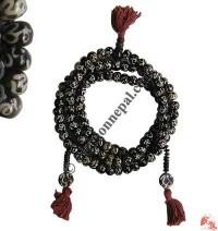 Om Mantra carved beads Mala2