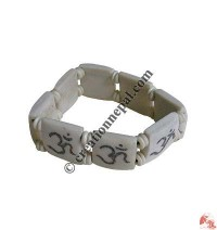 Decorated OM bone bracelet