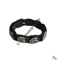 Fine beads chakra bone bracelet