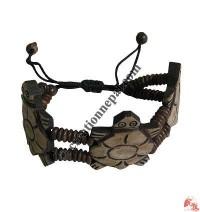 Three turtle bone bracelet