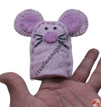 Pink-cat design finger puppet