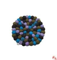 Felt balls tea coaster4