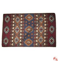 Wool embroidered small rug