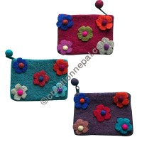 Five-flower felt coin purse1