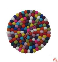 Round shape colorful balls mat