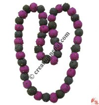 Tiny glass beads decorated balls necklace 6