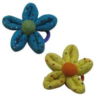 Beads decorated flower hairband3