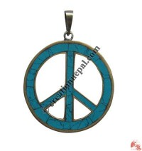 Large size peace sign pendant