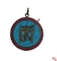 Decorated Tibetan OM pendant