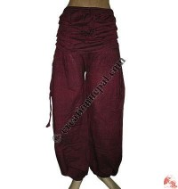 Waist cover cotton trouser
