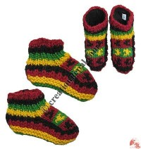 Kids size woolen indoor socks-shoes
