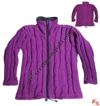 Purple Nagbeli woolen jacket