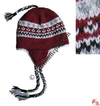 Woolen ear hat100
