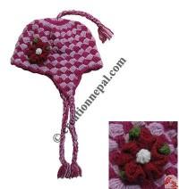 Crochet woolen ladies hat