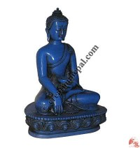 Blue color resin small Buddha statue
