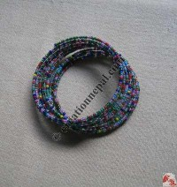 Glass beads wire bangle 3