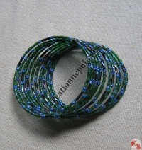 Glass beads wire bangle 4