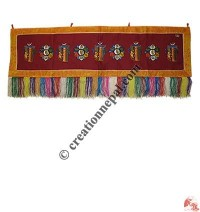 Round Om Mani and kalachakra horizontal brocade