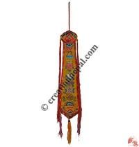 Embroidered Tashi Targey drum tail