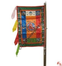 Shining vertical prayer flag