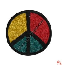 Small size peace sign badge
