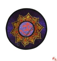 Medium size center Om lotus badge