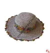 Hemp-cotton wire round hat