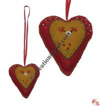 Felted woolen heart