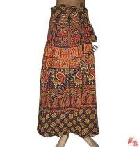 Burmese design long wrapper skirt