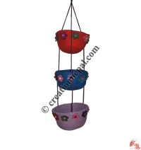 Felt hanging bowls set