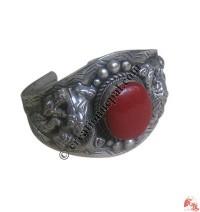 1 - Stone white metal bangle2