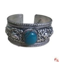 1 - Stone white metal bangle5