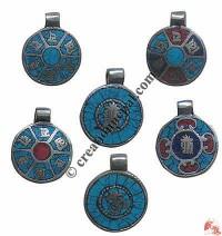 Decorated mantra locket