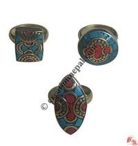 Assorted design brass finger ring