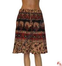 Jayapuri printed cotton mini skirt