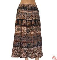 Jayapuri printed cotton long skirt